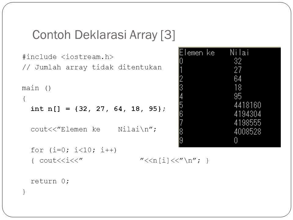 Contoh Deklarasi Array [3]